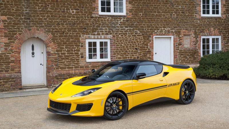 Lotus Evora Sport 410, Geneva Auto Show 2016, roadster, speed, yellow (horizontal)