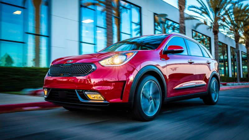 Kia Niro US-spec, Chicago Auto Show 2016, hybrid, electric cars, crossover, red (horizontal)