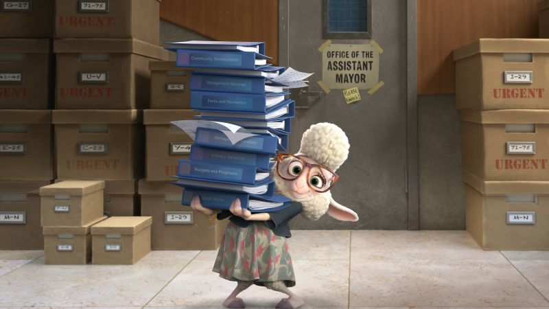 Zootopia, lamb Bellwether, Best Animation Movies of 2016, cartoon (horizontal)