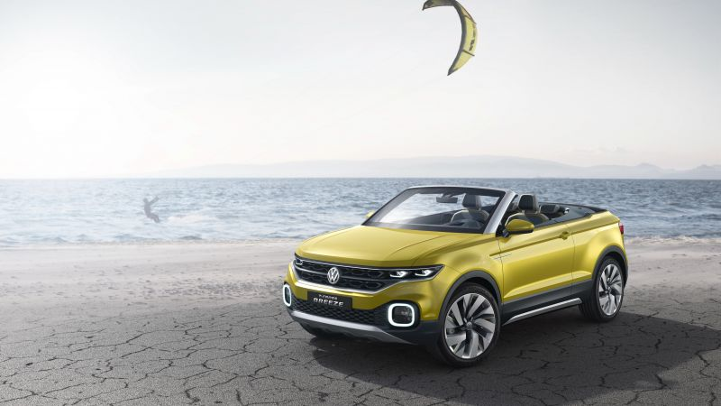 Volkswagen T-cross, Geneva Auto Show 2016, crossover, yellow (horizontal)