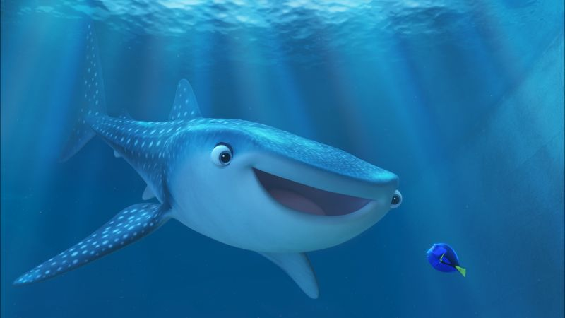 Finding Dory, nemo, shark, fish, Pixar, animation (horizontal)
