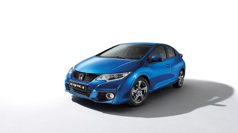 "Honda Civic ""X Edition"", Hatchback, Geneva Auto Show 2016, blue (horizontal)"