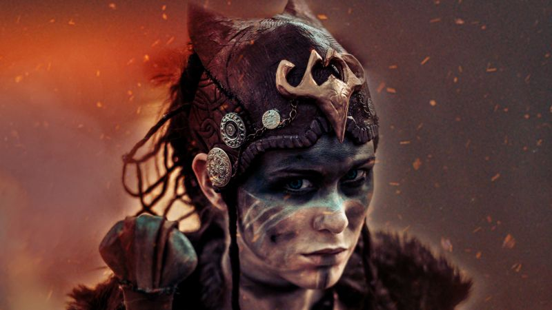 Hellblade, Senua, Best games, fantasy, PC, PS4, game (horizontal)