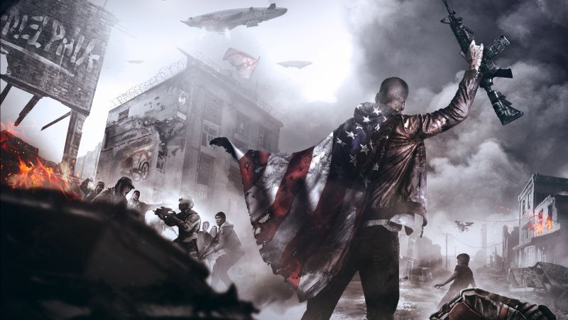 Homefront: The Revolution, shooter, fps, soldier, base, grey, screenshot, art, PC, PS4, XBox one (horizontal)