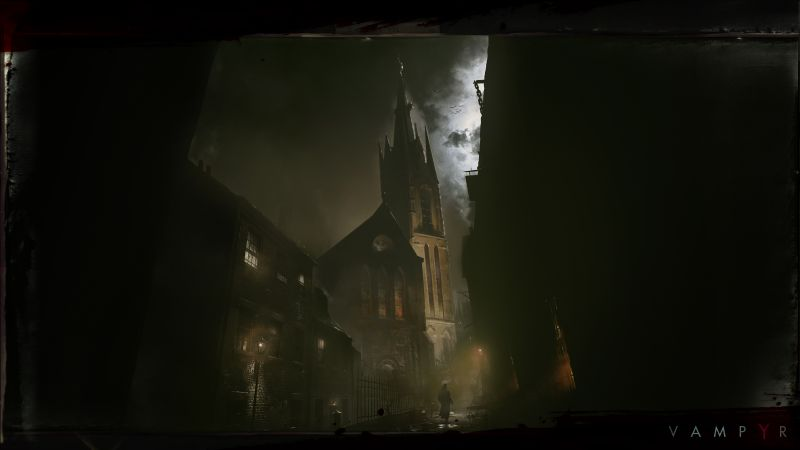 Vampyr, darkness, Best Games, sci-fi, PS4, PC, Xbox One (horizontal)