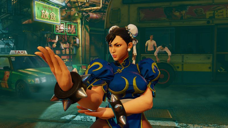 Street Fighter 5, CHUN-LI, Best Games, fantasy, PC, PS4 (horizontal)
