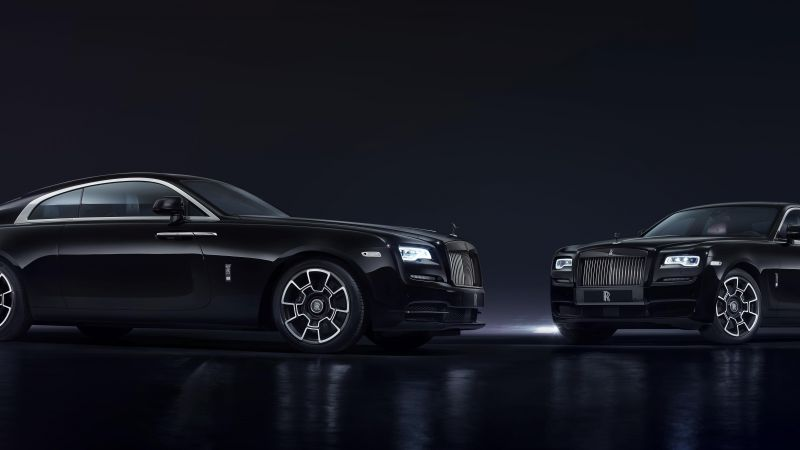 "Rolls-Royce Wraith ""Black Badge"", Geneva Auto Show 2016, luxury cars, black (horizontal)"