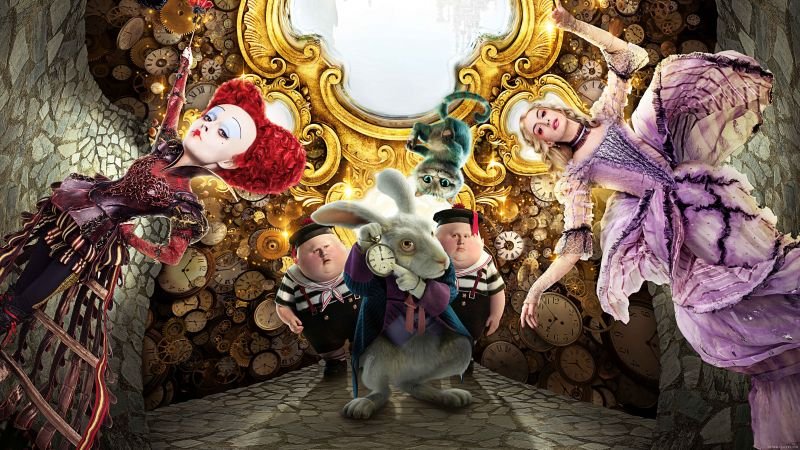 Alice Through the Looking Glass, rabbit, red queen, best movies of 2016 (horizontal)