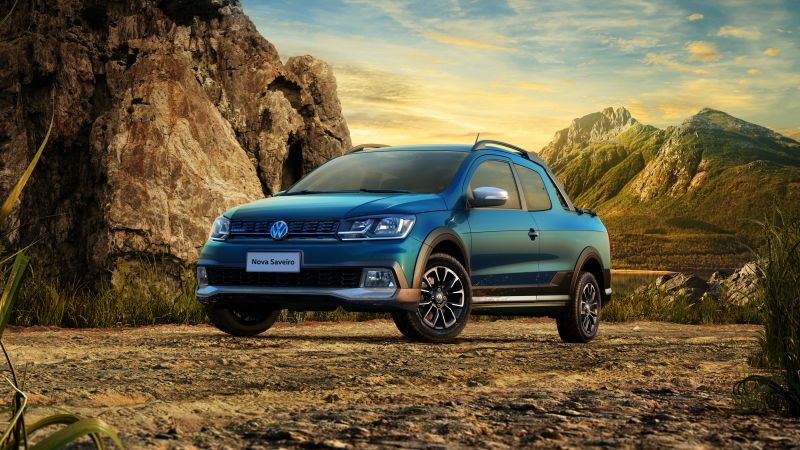 Volkswagen Saveiro Cross CD, pickup, blue (horizontal)