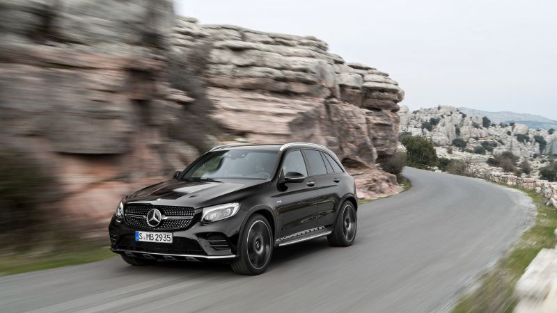Mercedes-AMG GLC 43, 4MATIC (X253), NYIAS 2016, crossover, black (horizontal)