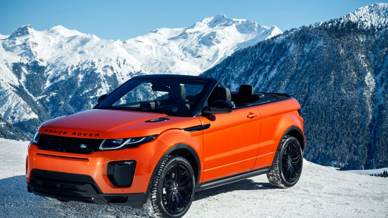 Range Rover Evoque Convertible, cabriolet, orange (horizontal)