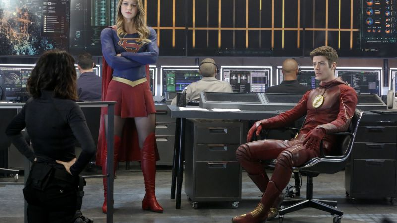 The Flash, Supergirl, Crossover, Grant Gustin, Melissa Benoist, Best TV Series (horizontal)