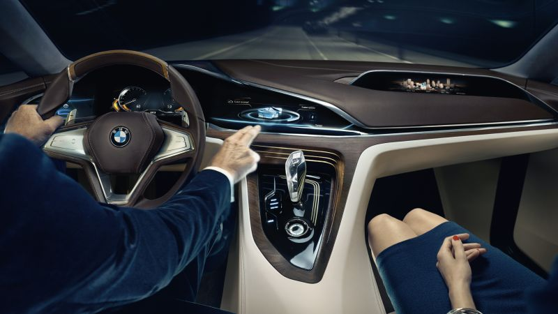 BMW Vision Future Luxury, 9 series, sedan, luxury cars, interior (horizontal)