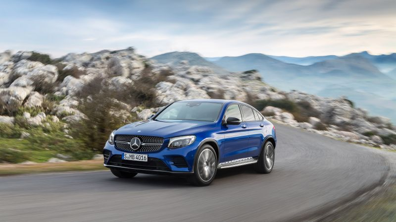 Mercedes-Benz Glc Amg Line, NYIAS 2016, blue (horizontal)