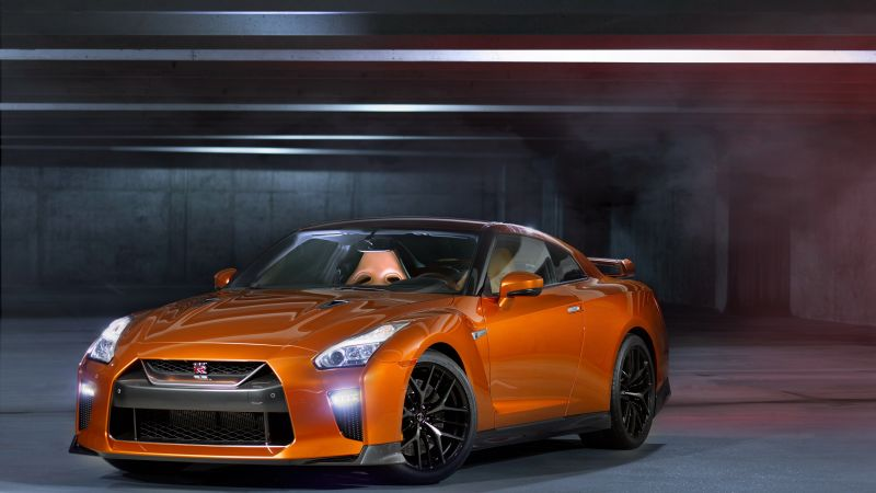 Nissan GT R, NYIAS 2016, supercar, orange (horizontal)