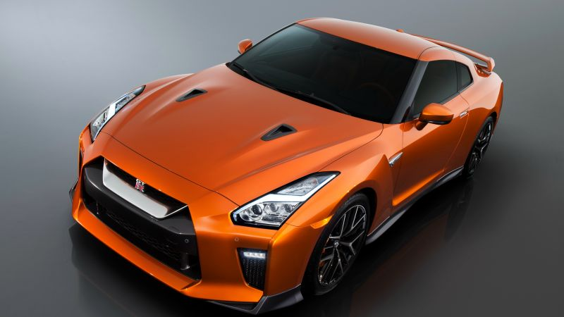 Nissan GTR, supercar, orange (horizontal)