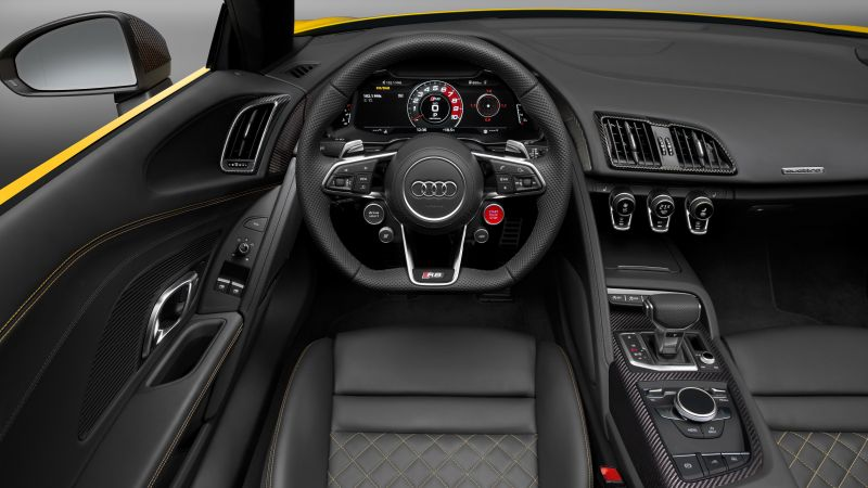 Audi R8, NYIAS 2016, supercar, interior (horizontal)
