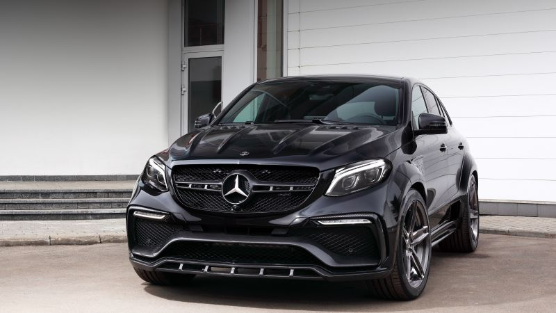Mercedes-Benz inferno GLE, coupe, black (horizontal)