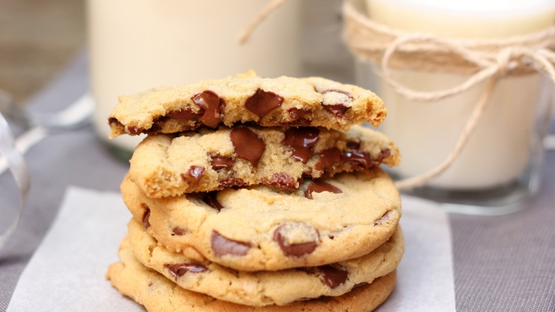 cookies, chocolate, cooking, recipe, milk, sugar (horizontal)