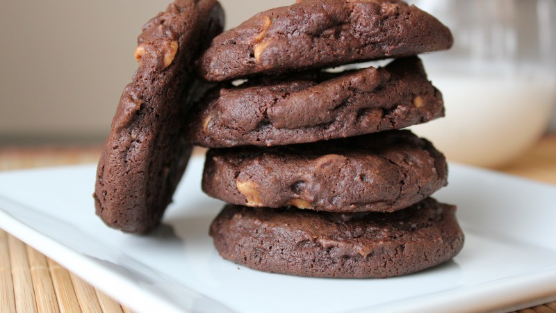 cookies, Chocolate, recipe, cooking, almonds