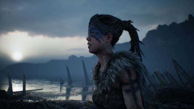 Hellblade: Senua's Sacrifice, Best games, fantasy, PC, PS4, game (horizontal)