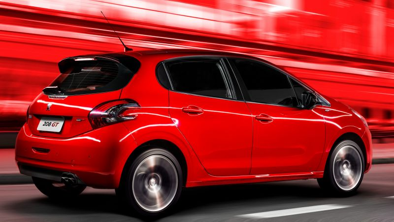 Peugeot 208 GT, hatchback, red