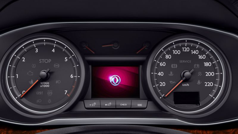 Dongfeng Aeolus A9, sedan, instrument cluster