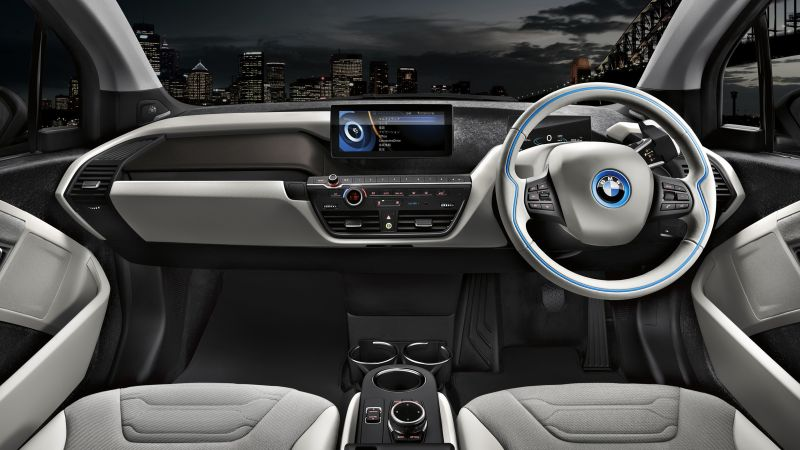 "BMW i3 ""Carbonight"", electric cars, city cars, interior (horizontal)"