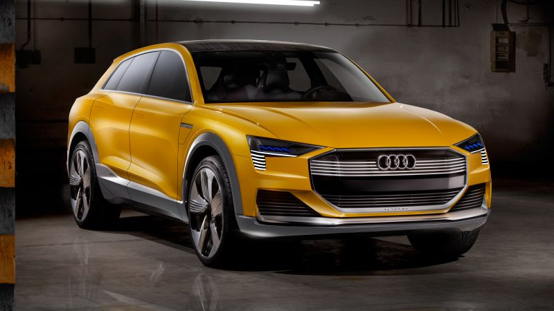 Audi h-tron quattro, hydrogen, crossover, Citrine yellow, Design Week 2016 (horizontal)