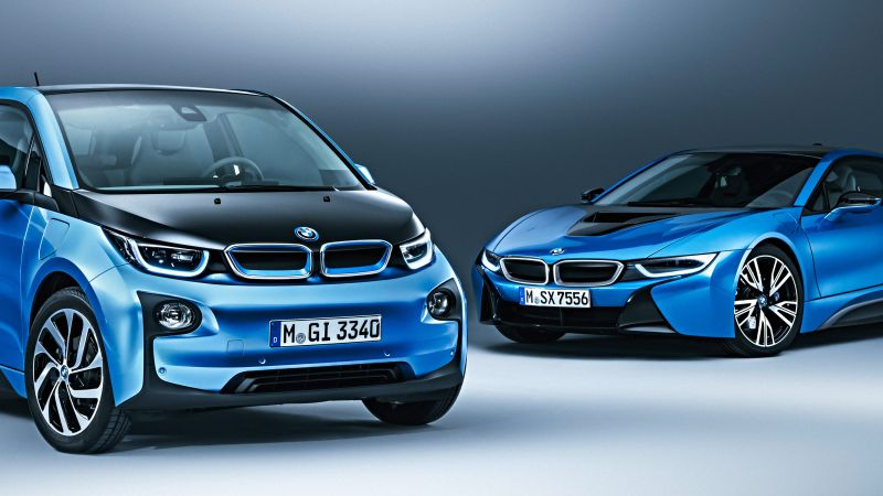 BMW i3 Protonic Blue, electric cars, electric, blue