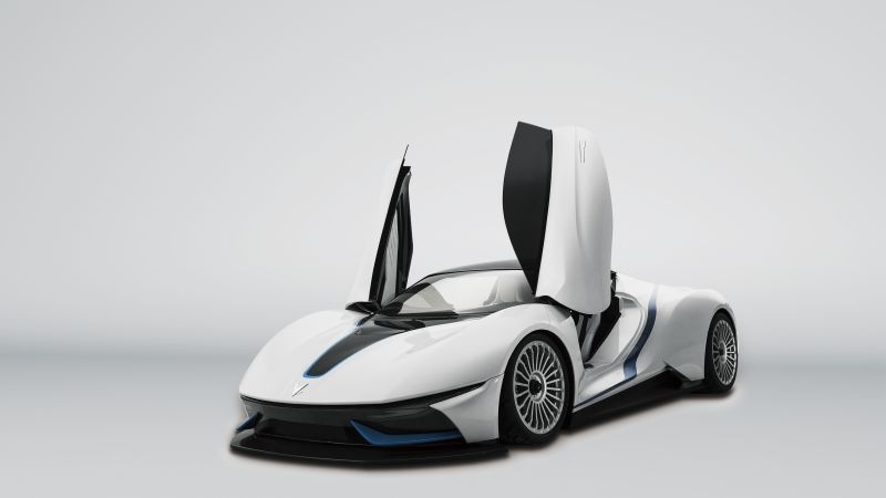 BAIC Arcfox-7, supercar, electric cars, white (horizontal)