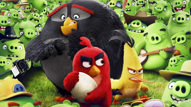Angry Birds Movie, chuck, red, bomb, Best Animation Movies of 2016