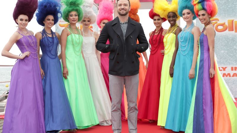 Justin Timberlake, Can't Stop the Feeling, trolls, Most popular celebs