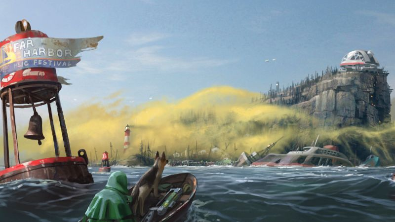 Fallout 4: Far Harbor, Best Games 2016, game, shooter, PC, PS4, Xbox One, review, screenshot, concept art (horizontal)