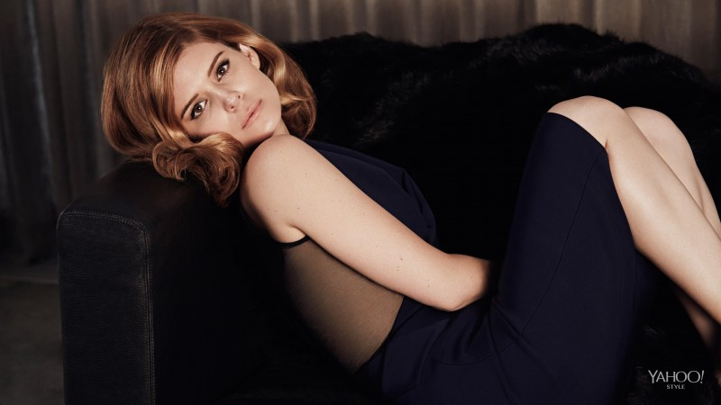 Kate Mara, Actress, red hair, dress, look, chair, American Horror Story
