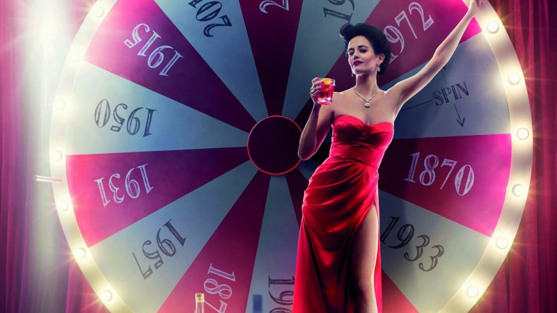 Eva Green, Actress, model, red, dress, brunette, drink, Penny Dreadful, calendar campari