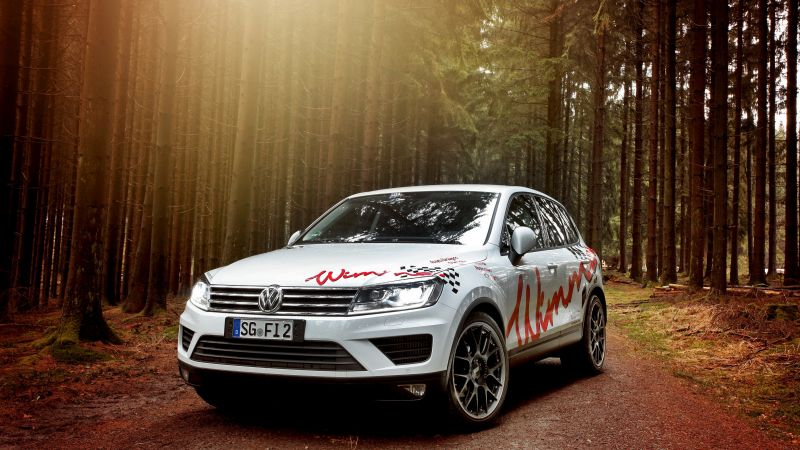 Wimmer RS Volkswagen Touareg, wimmer, white, forest