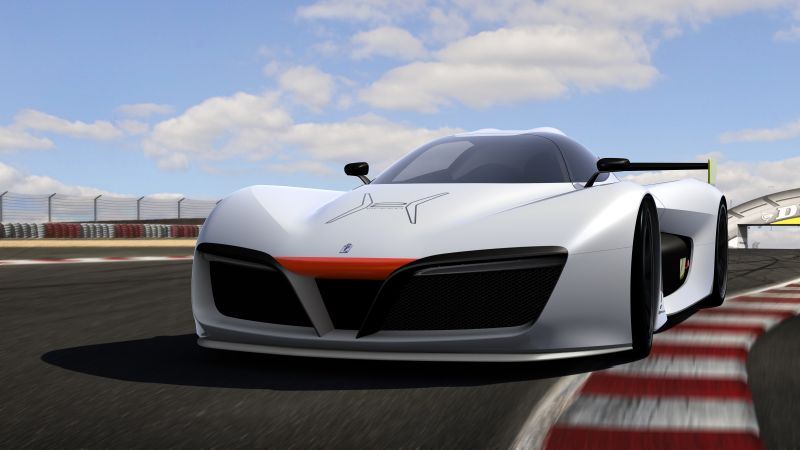 Pininfarina H2, supercar, hydrogen, hydrogen fuel cell, sport car, white (horizontal)