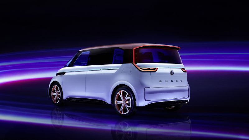 Volkswagen BUDD e, CES 2016, electric, electric cars, microbus, silver
