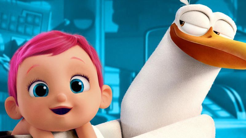 Storks, baby, best animation movies of 2016