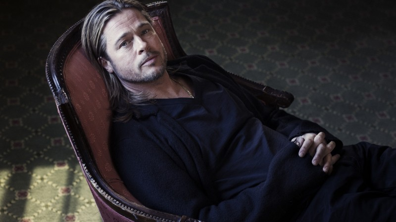 Brad Pitt, William Bradley Pitt, actor, producer, look, chair, room (horizontal)