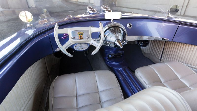 "Ford ""Beatnik"" Bubbletop Custom, 1955, retrofuture, future, interior"