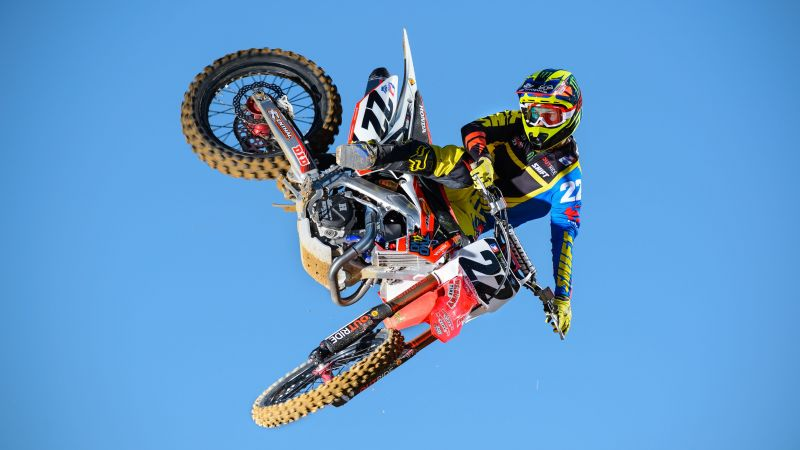 Chad Reed, motocross, fmx, rider, freestyle, maneuver, Flying Rider (horizontal)