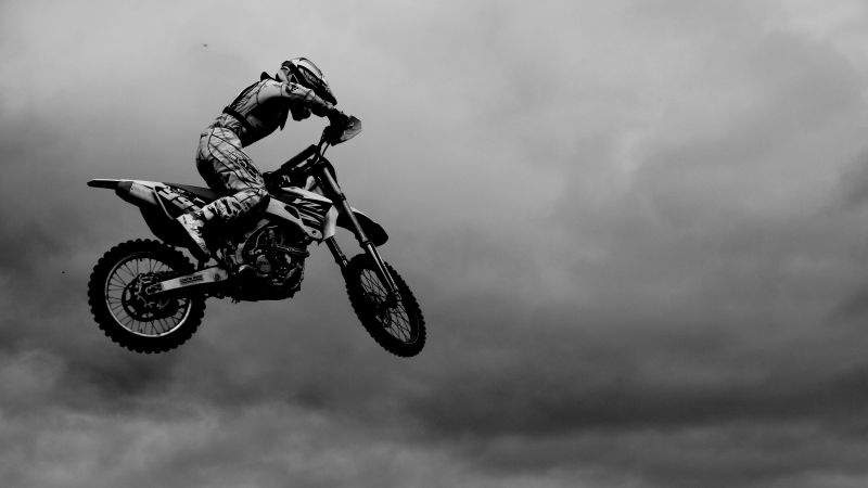 motocross, fmx, rider, freestyle, maneuver, Flying Rider