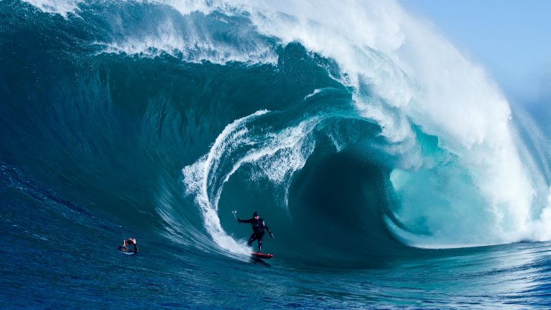 Surfing, man, sports, ocean, wave