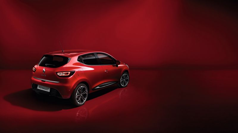 Renault Clio, hatchback, red (horizontal)