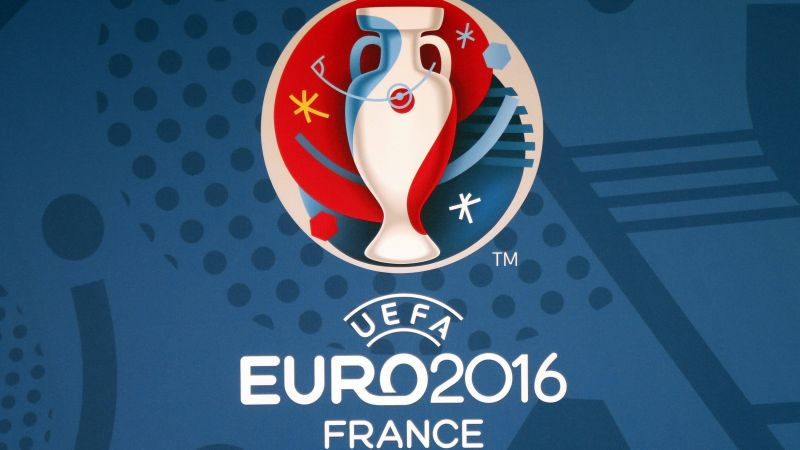 euro 2016, football, logo, France, Geneva (horizontal)