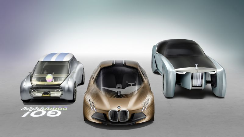 Rolls-Royce Vision Next 100, bmw, mini, future cars, futurism, silver (horizontal)