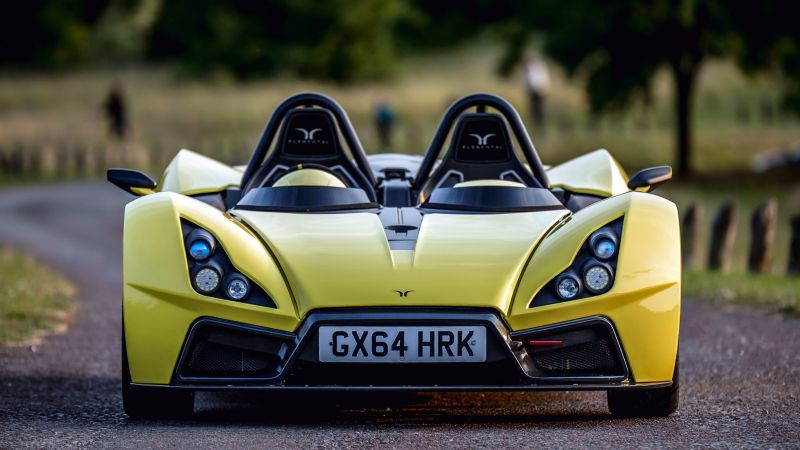 Elemental Rp1, roadster, track, supercar, yellow