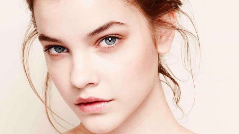 Barbara Palvin, model, look, white (horizontal)